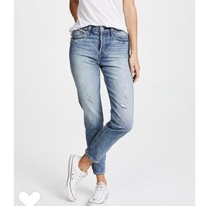 Levi's White Oak Wedgie Fit Button Fly Jeans